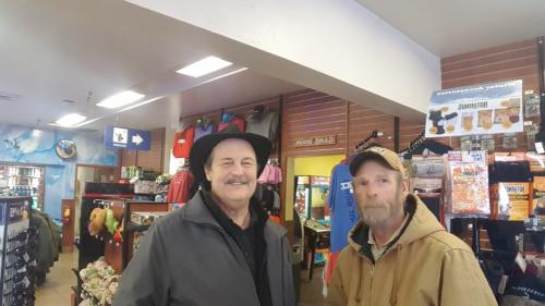 Tony from Coeur d'alene Idaho meeting BigRigSteve at Post Falls Idaho February 2018
