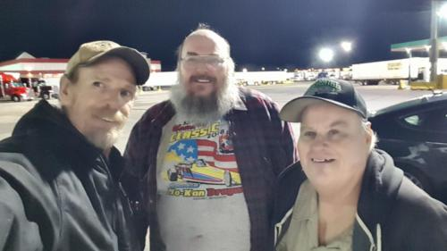 Mike and Jerry met us at the Joplin 44 Truckstop in Joplin, Missouri on Feb 24th 2019. They drove 25 miles from Lawton, Kansas!