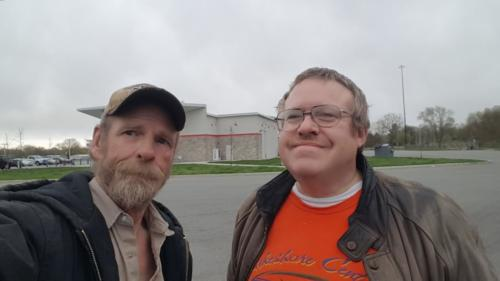 Dave met up with BigRigSteve at the Portage, Indiana service plaza on April 27, 2019