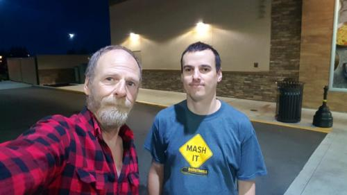 Eljefecom chased BigRigSteve down to meet for coffee in the early morning hours on September 20, 2019 in Arlington,  Washington