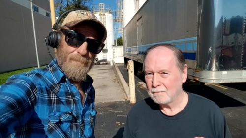 Downingtown,  Pennsylvania is where Philip met BigRigSteve while we were being loaded early! October 28, 2019
