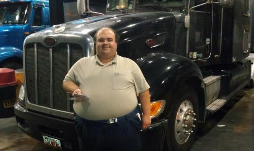 October 2013Davis catches BigRigSteve in the fuel islands at the Pilot truckstop in Crossville, Tennessee