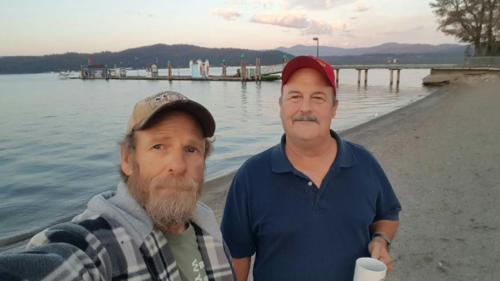 BigRigSteve and Tony had a nice walk on the LAKE COEUR D'ALENE pier in Idaho on September 15, 2018