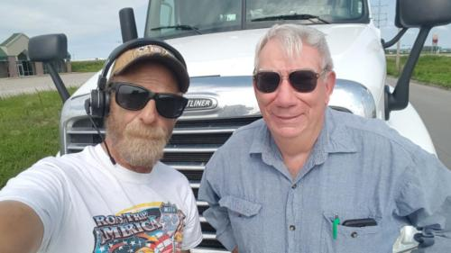 Tim from Nebraska City, Nebraska caught up with BigRigSteve on his 30 minute break in Percival,  Iowa July 28, 2018